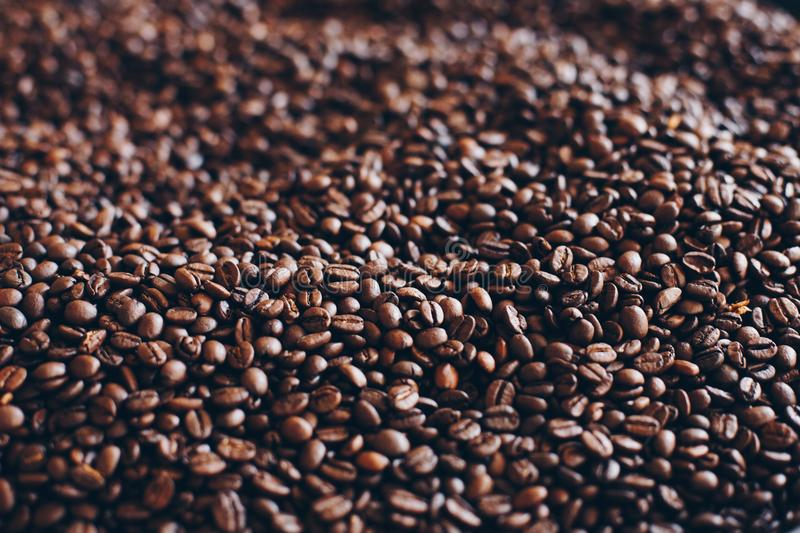 Close-Up Photography of Roasted Coffee Beans royalty free stock photography