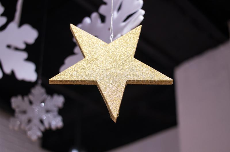 Close-up Photography of Star Covered with Glitters stock photo