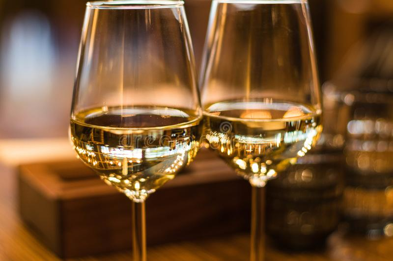 Close-Up Photography of Wine Glasses stock image