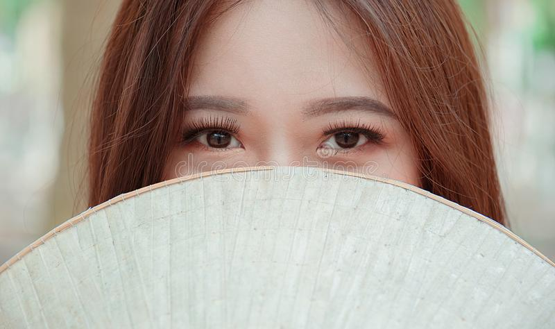 Close-up Photography of Woman's Eyes royalty free stock photography
