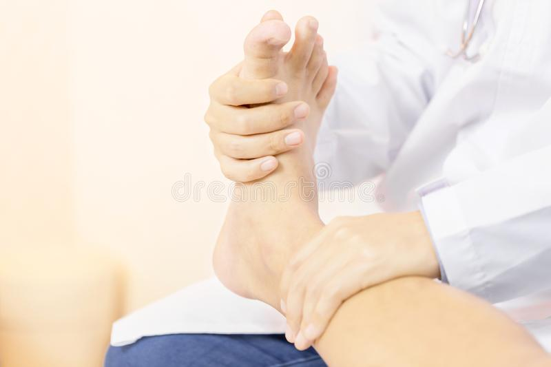 Close up of Physiotherapist working stock image
