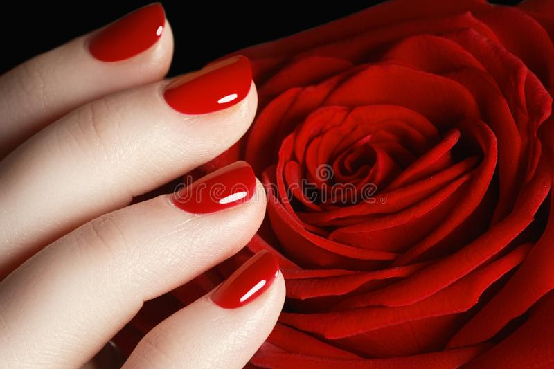 Close-up picture of beautiful nails. A good idea for the adverti stock images