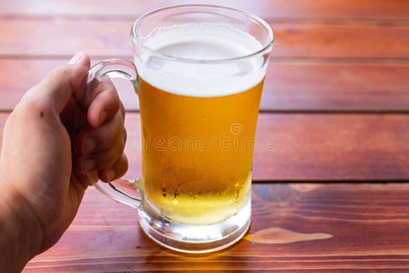 Fresh draught beer royalty free stock photo