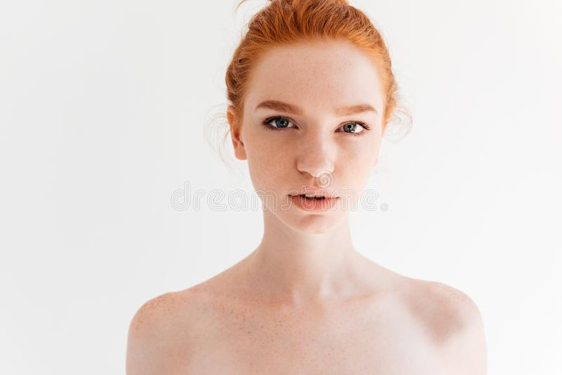 Free Photo | Close up beauty portrait of ginger woman with
