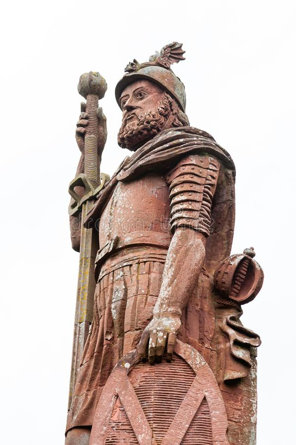 William Wallace Monument. A close up picture of the red sandstone William Wallace monument located near Melrose in the Scottish Borders. William Wallace was a royalty free stock photos