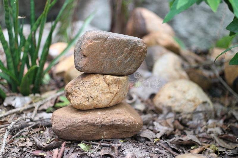 Close-up pictures of rocks stacked together, natural background in the forest. Outdoor royalty free stock images