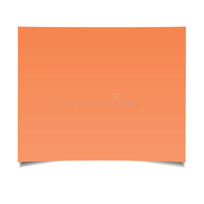 Close up of a piece of note paper. Isolated on a white background royalty free illustration