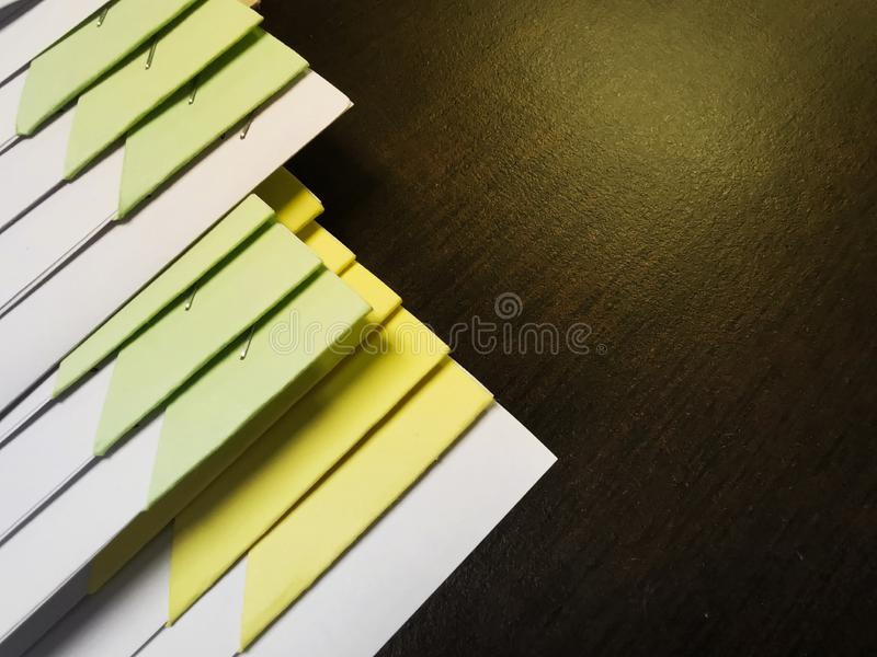 Close-up Pile of business papers with document file stock photo