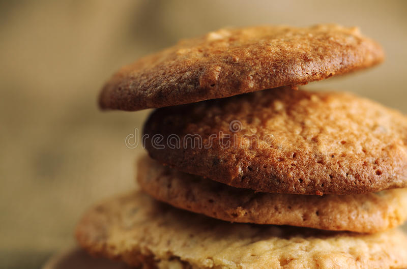 Close up of pile of delicious cookies. stock photography