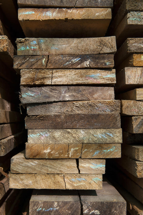 Close up pile wood texture stack in factory use for material object construction and multipurpose royalty free stock photo