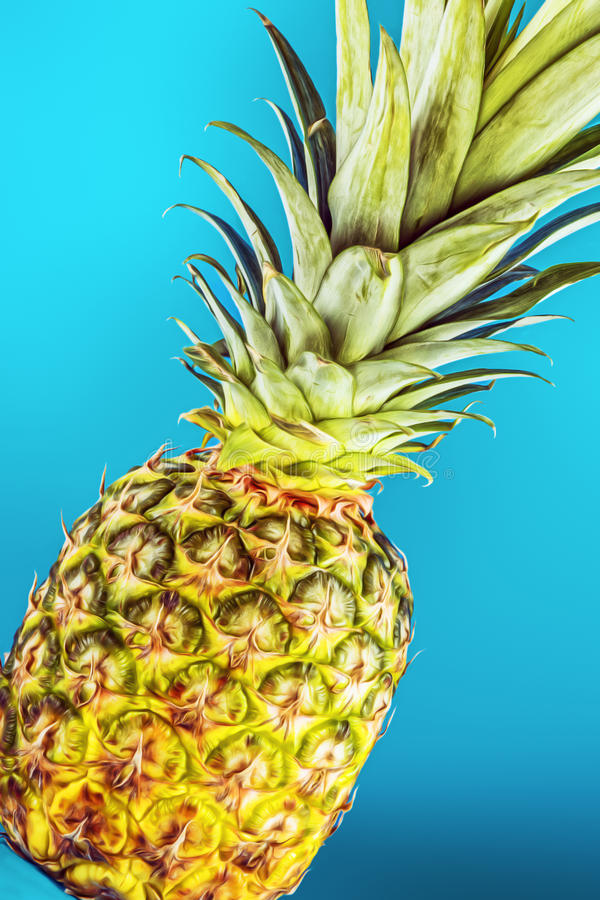 Download Closeup pineapple stock photo. Image of colorful, composition - 30086110