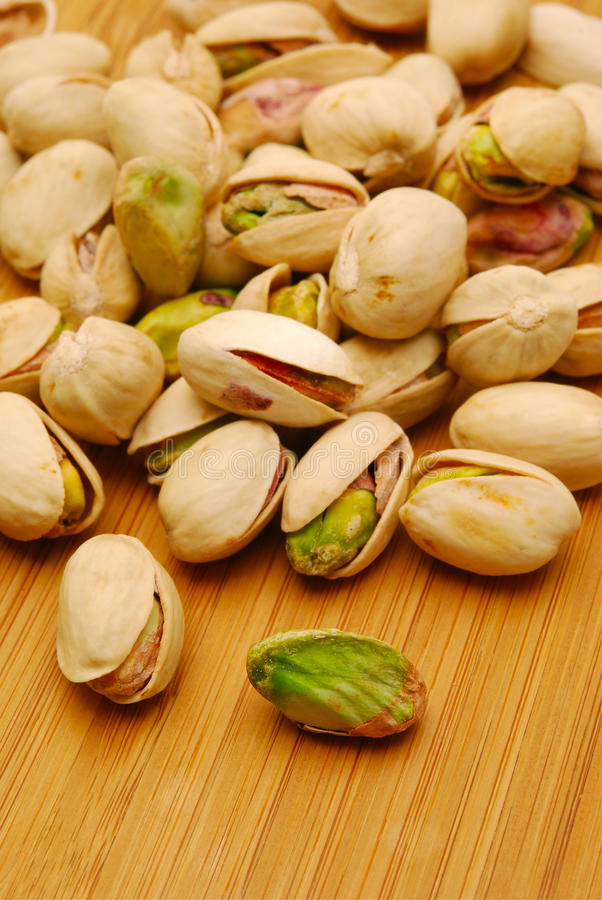 Close up of pistachio nuts royalty free stock images