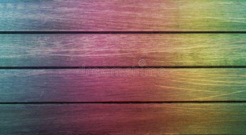 Close-up Placas de madeira com pintura colorida fotografia de stock royalty free
