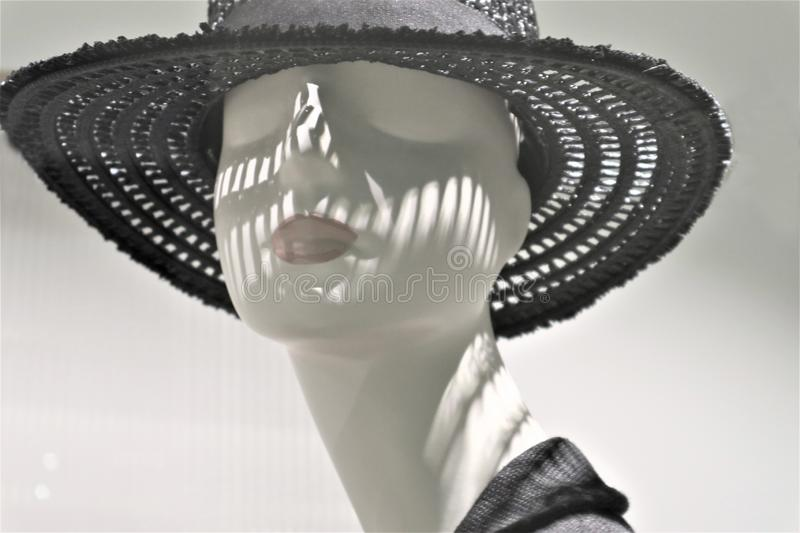 Close-up of a plastic mannequin head royalty free stock photos