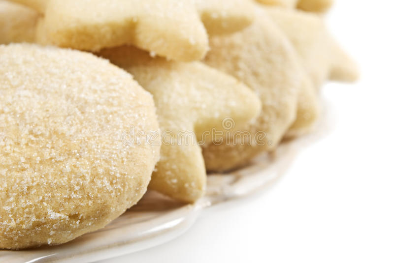 Close Up Of A Plate Of Cookies Royalty Free Stock Photos