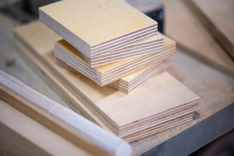 Pile of plywood sheets stock photo  Image of slab, panel