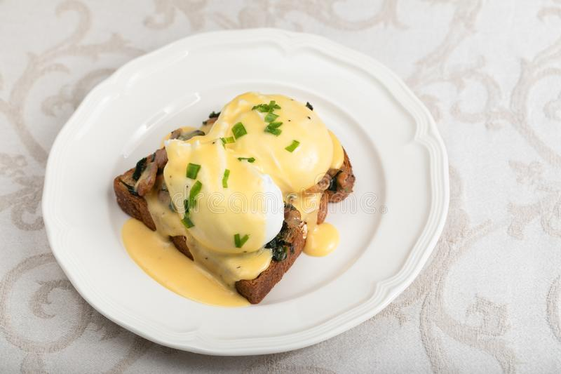 Eggs Benedict for brunch royalty free stock photo