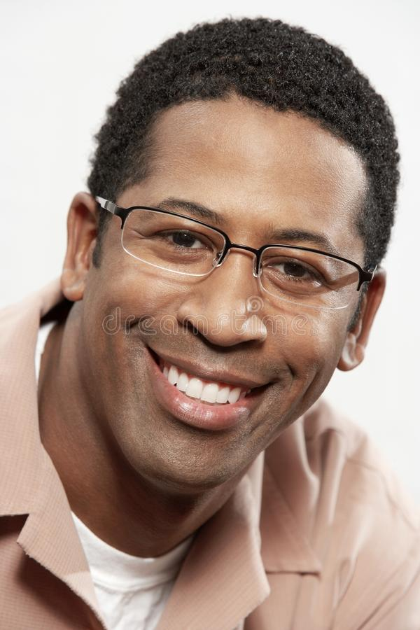 Close-Up Portrait Of An African American Man Smiling stock photo