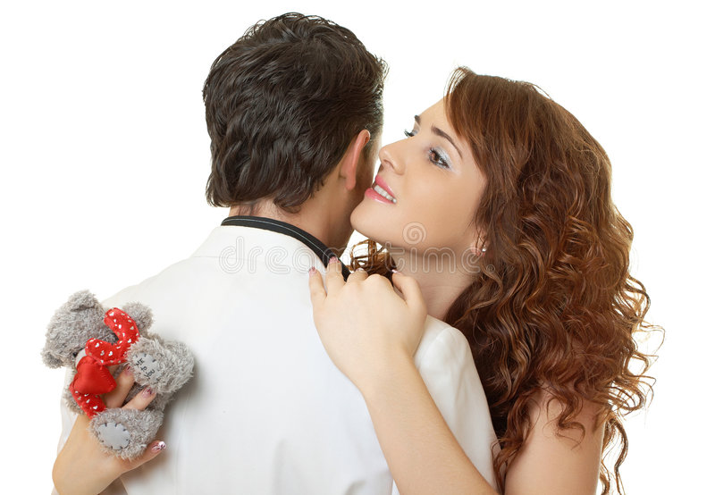 Download Close-up Portrait Of Attractive Couple Flirting Stock Image - Image: 7292351