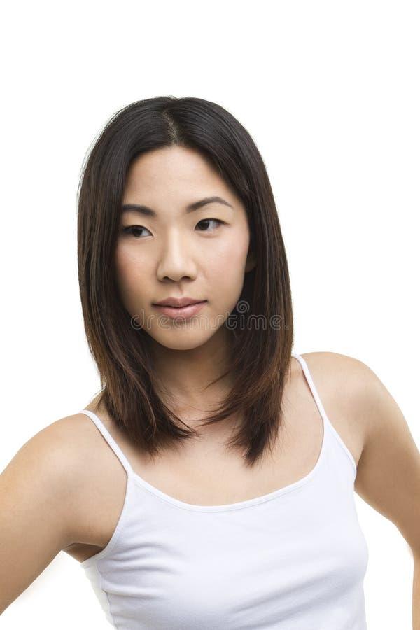 Close up portrait of beautiful Asian woman stock photos