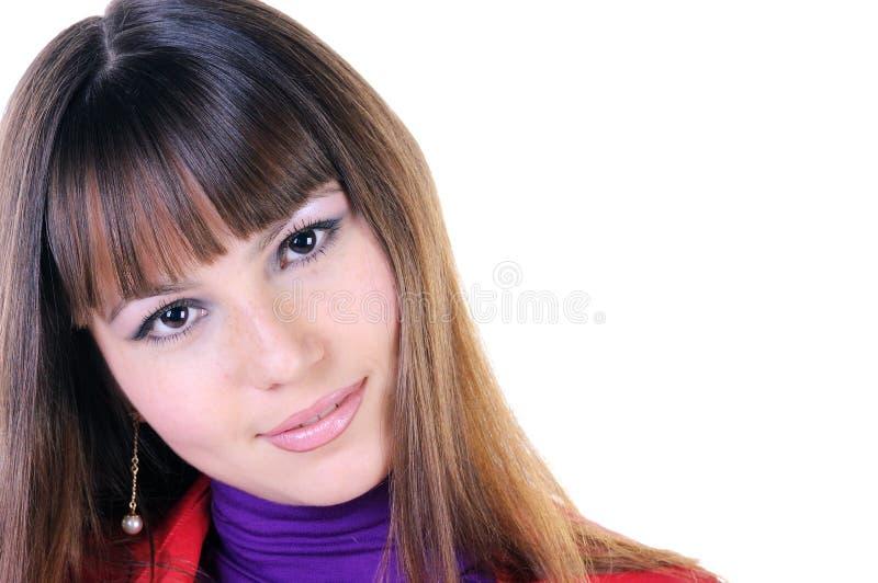 Download Close-up Portrait Of Beautiful Brunette. Stock Photo - Image: 12086296