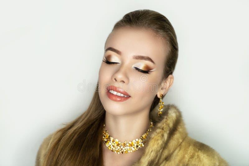 Makeup cut crease royalty free stock images