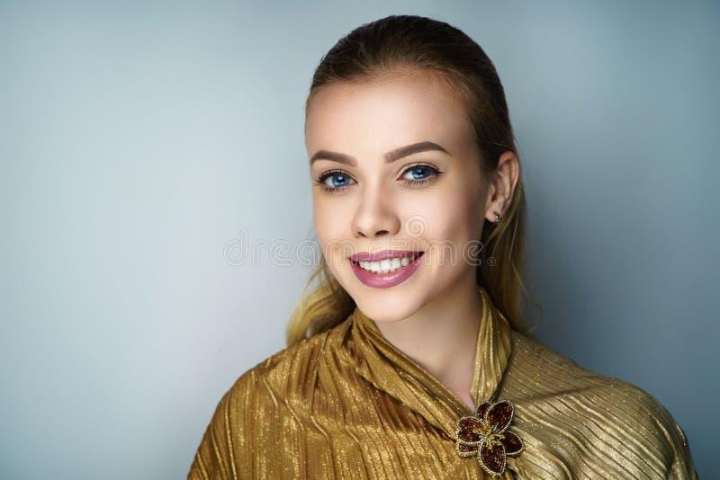 Woman smile white teeth royalty free stock photo