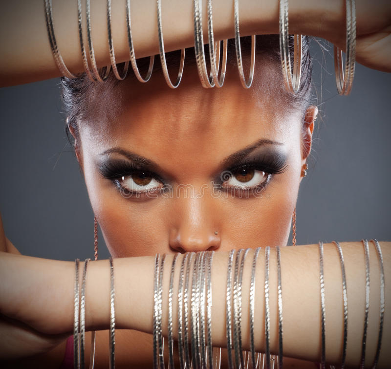 Download Close Up Portrait Of Beautiful Woman Stock Image - Image: 12537469
