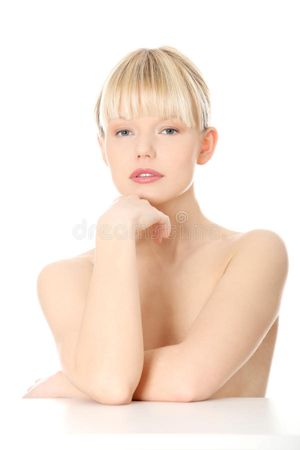 Close-up, portrait of a beautiful woman royalty free stock photos
