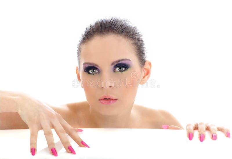 Close-up portrait of beautiful woman stock image