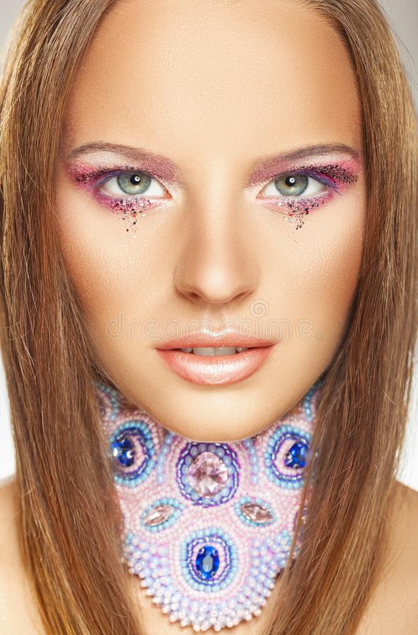 Glamour portrait stock image