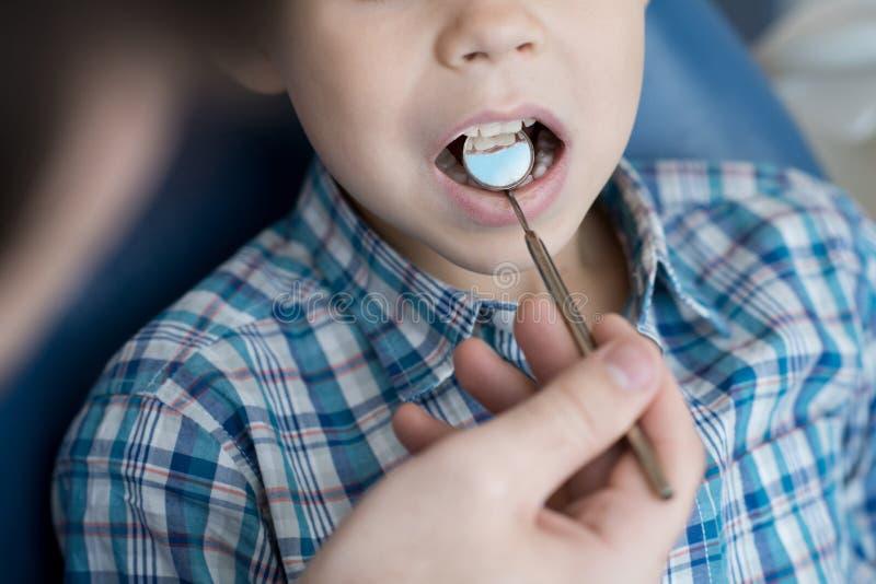 Child Visiting Dentist Closeup royalty free stock image