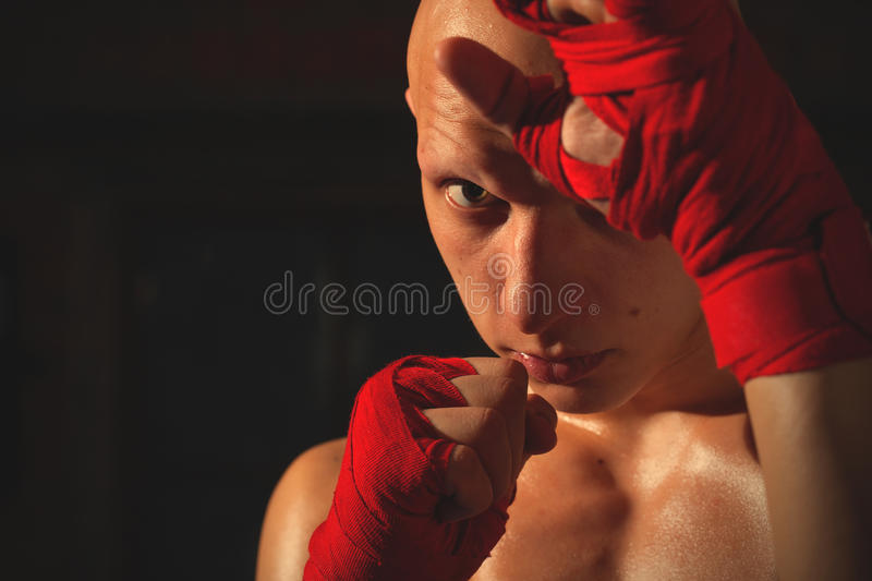 Portrait of a fighter royalty free stock images