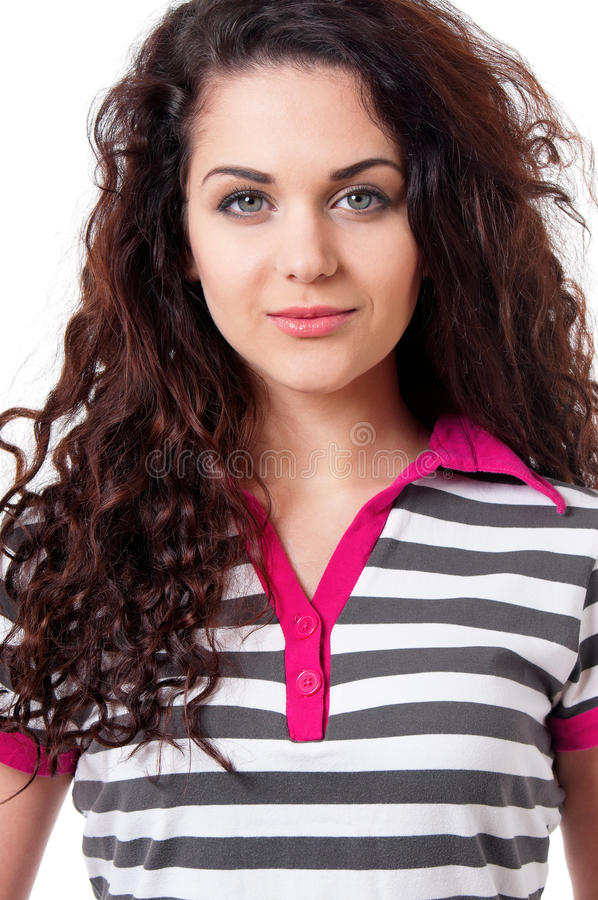 Close-up portrait of girl royalty free stock photography