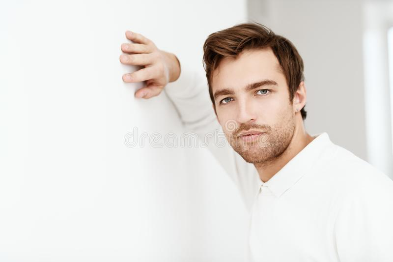 White pullover for man stock images