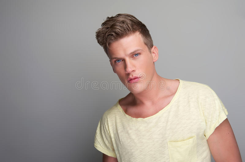 Handsome Young Man Close Up Portrait royalty free stock images