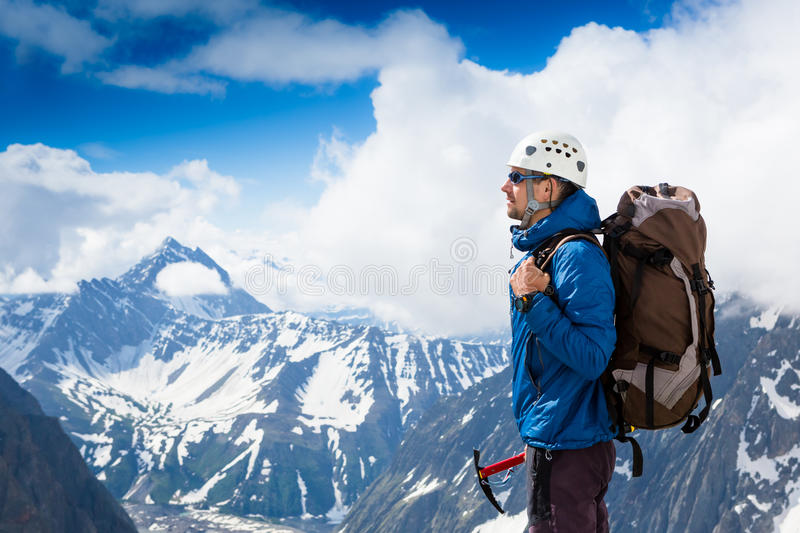 Close up portrait of hiker royalty free stock photos