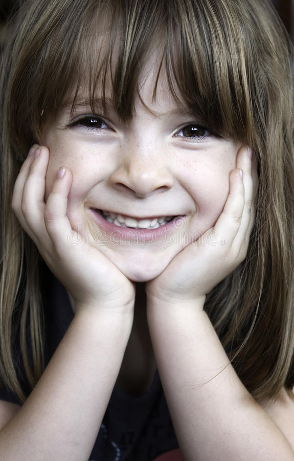 Close up portrait of little girl royalty free stock image