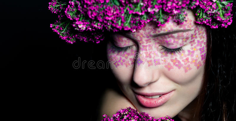 Download Close Up Portrait Of Model Make-up With Eyes Closed Royalty Free Stock Images - Image: 28979119
