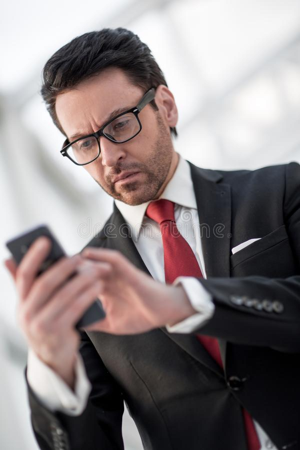 Close up.portrait of a modern businessman royalty free stock images