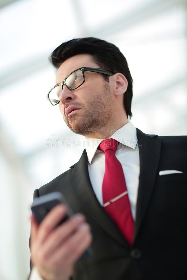 Close up.portrait of a modern businessman stock image
