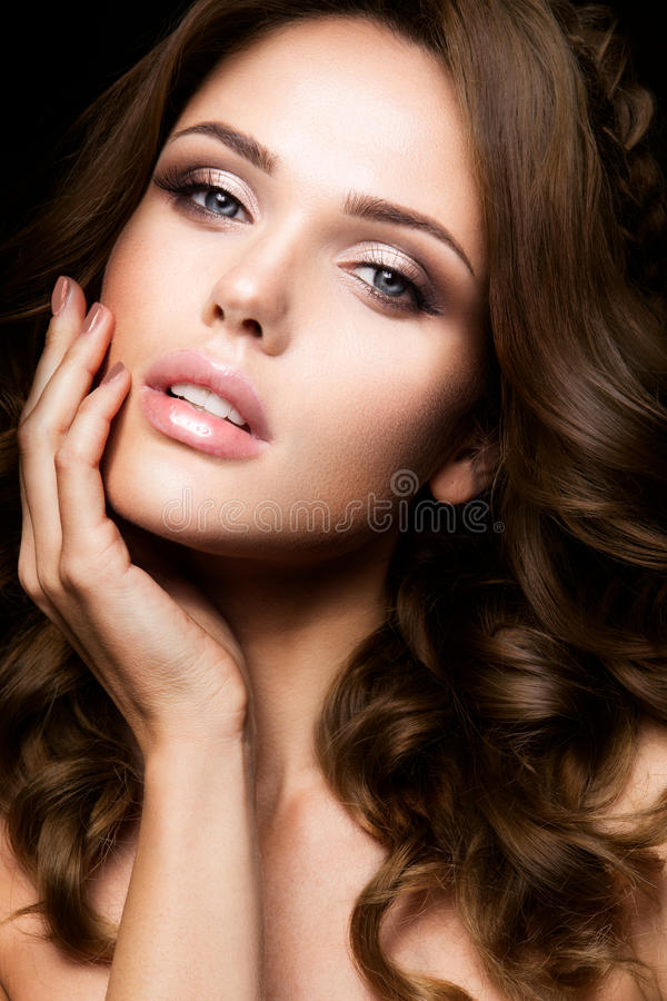 Free Close-up Portrait Of Beautiful Woman With Bright Make-up Stock Images - 60521854