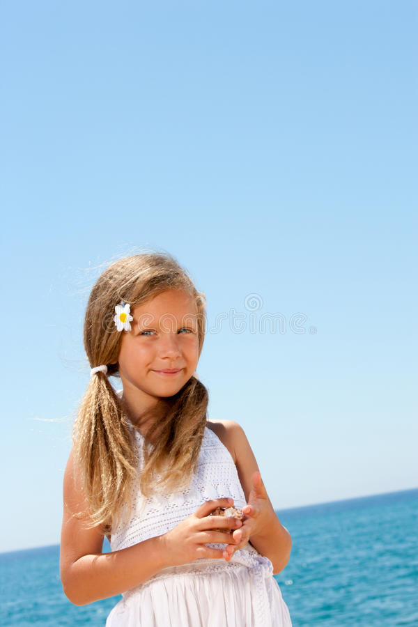 Close up portrait of sweet girl outdoors. stock photos