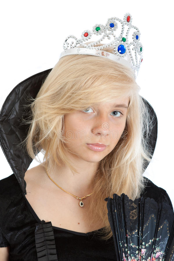 Download Close-up Portrait Of Teenager Princess Girl Stock Image - Image: 26080323