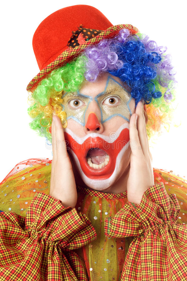 Download Close-up Portrait Of A Terrified Clown Stock Photo - Image: 15723344