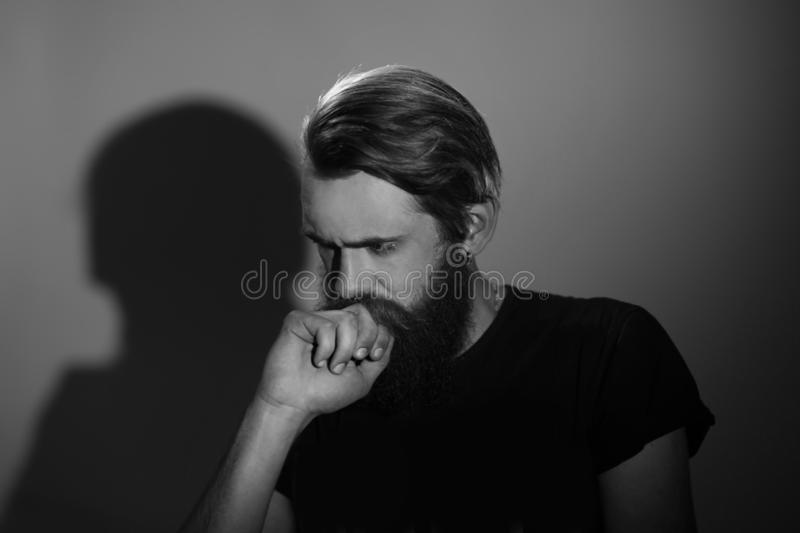 Close up.portrait of a thoughtful serious man royalty free stock photo