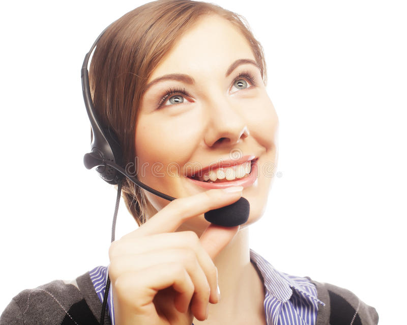 Download Close Up Portrait Of Woman Customer Service Worker Stock Image - Image of friendly, face: 39509215