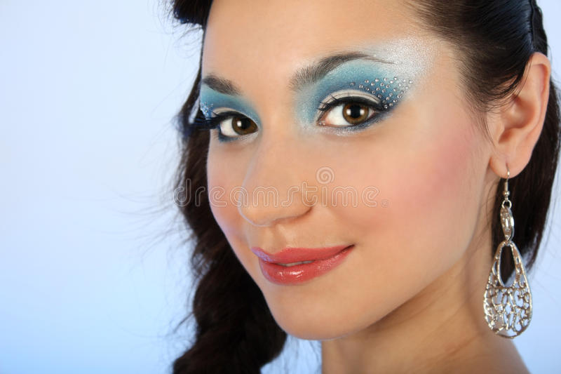 Download Close Up Portrait Of Woman With Make-up Stock Image - Image: 17037219