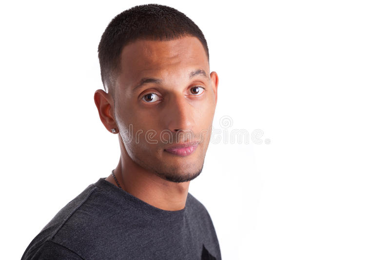Download Close Up Portrait Of A Young African American Man Stock Photo - Image: 27277194