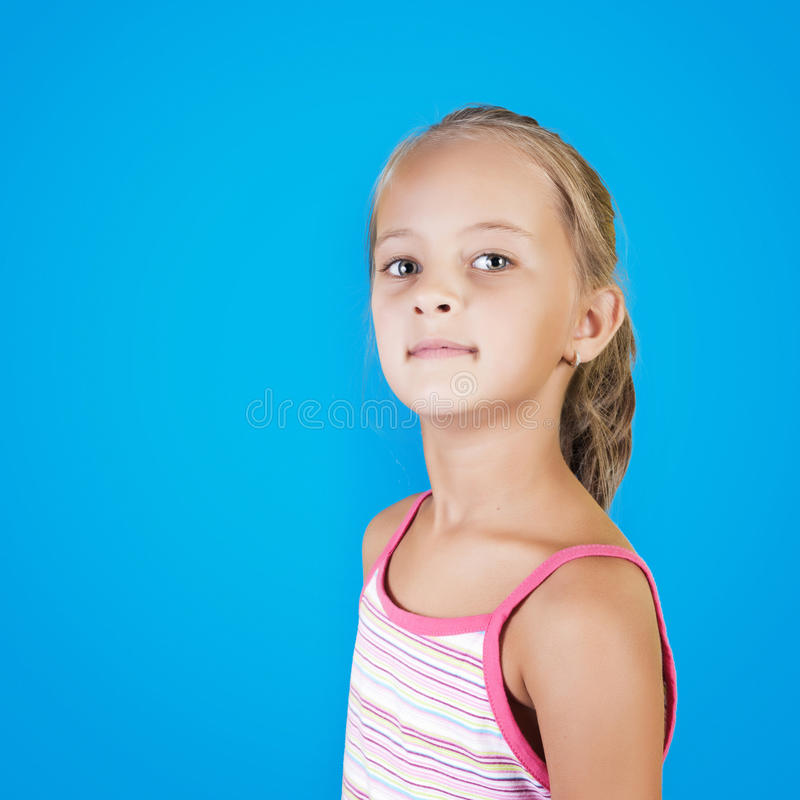 Close up portrait of young beautiful little girl stock images